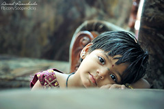 When a child can pose like this we understand why they are called angels. (Arvind Ramachander) Tags: cute home girl beautiful kids amazing eyes child candid relaxed