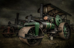 Road Roller    ( Explore 7.3.13 ) (pete214peg) Tags: road old history clouds canon dangerous power rusty steam land hdr oldglory highquality steampower tractionengines gdsf canon5dmk2 5dmk2 greatdorsetsteamfair2011 greartdorsetsteamfair