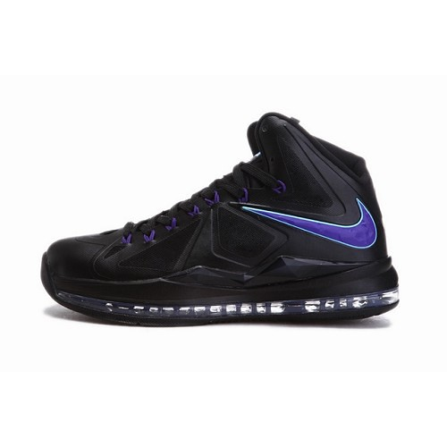super popular cb2db 86e3c Nike Air Max LeBron James 10 X Men Shoes Black Purple 1034 1