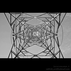Electric Steel Tower - Low angle (Sathish_Photography) Tags: tower giant photography angle shots weekend steel low cables photowalk electrical chennai tamilnadu sathish electical cwc clickers thiruverkadu