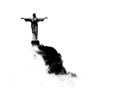 Christ the Redeemer in the clouds (Heaven`s Gate (John)) Tags: brazil bw white black art southamerica rio brasil christtheredeemer corcovado stature riodejanerio johndalkin heavensgatejohn
