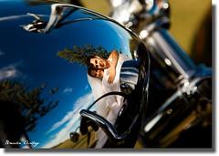 Chrome reflection (liipgloss) Tags: wedding woman man love happy groom bride harley harleydavidson kombi catherinehillbay