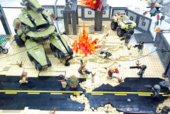 Boom! (blamos86) Tags: oregon portland lego or bricks battle scifi cascade mecha mech moc afol 2050 2013 portlug aarma