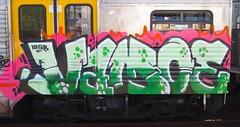 Vamoe KSR SKB - Sydney - 2013 (Eddie Haskel's Sydney Graffiti Flicks) Tags: train graffiti panel sydney rail nsw vandalism newsouthwales ashfield cityrail skb ksr 2013 galve vamoe mmxiii
