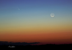 Pan-Starr Comet and New Moon [Explored!] (Terry Aldhizer) Tags: moon terry comet aldhizer terryaldhizercom panstarr