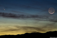 Comet PANSTARRS and the Moon (Michael_Underwood) Tags: moon night twilight colorado crescent astrophotography astronomy pan comet lakecity sanjuanmountains starrs panstarrs pannstarrs