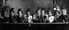 C. 1890 American Girls (Historicimage) Tags: woman girl female women friendship humor girlfriends vintagephoto vintagephotograph vintagefashion vintagephotography vintagehumor
