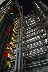 Looking Up (Richard Parmiter) Tags: england london night unitedkingdom photowalk archtecture cityoflondon lloydsbuilding lloydsoflondon londonist londonatnight opencity grantsmith leddenhallstreet