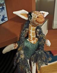 Giraffe with long hair. (merlinprincesse) Tags: doll handmade giraffe artdoll girafe faitlamain cousumain 2013yearofthegiraffe sewingthegiraffe