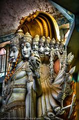 "Serpents and Vishnu Incarnations at Vishwa Shanti Ashram (Keith ""Captain Photo"" Cuddeback) Tags: india vishnu bangalore hdr vishwashantiashram photobysanfranciscobayareaphotographerkeithcuddeback"