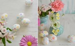 Painted egg 8 (Elmelati) Tags: flowers watercolor diy eastereggs paintedeggs
