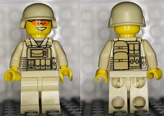 Modern soldier minifig (zalbaar) Tags: minifig customs zalbaar