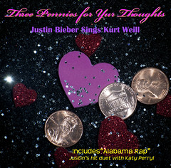 Three Pennies for Yur Thoughts (dnskct) Tags: music love glitter hearts three kurt album cd pop sparkle cover penny pennies wah cdcovers weill threepennyopera werehere katyperry justinbieber march242013 3242013