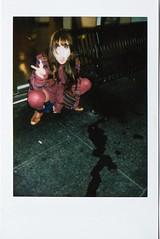 0005 (jenniferbotello) Tags: sanfrancisco street portrait halloween jessie drunk polaroid drinking streetportrait whiskey instant peeing instax instantphoto newmontgomery fujiinstax peoplephoto