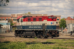 (Defect Detector) Tags: california railroad train woodland davis northern westvalley californianorthern gp151 cfnr 3gs21bde