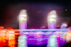 Pont Flingu (www.danbouteiller.com) Tags: france french franais rouen normandie pont flaubert pontflaubert bridge blur blurred flou pink magenta night nocturne nocturnal bynight canon canon5d eos 5dmk2 5d 50mm 50mm14 5d2 5dm2 longexposure longueexposition long exposure nuit film argentique analog city ville urban abstrait abstract color colors couleurs flashy