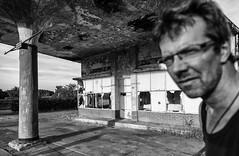 ........ (nokkie1) Tags: holland limburg gasstation urbex me storytelling black white contrast lines