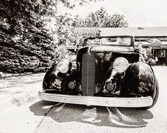 Classy Ride (Oliver Leveritt) Tags: nikond610 afsnikkor1635mmf4gedvr oliverleverittphotography wideangle automobile car antique blackandwhite monochrome sepia platinum old
