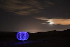 Inter-Light-Phase (Hellscream #22) Tags: lightpainting calama chileflickr chile chiuchiu chileandesert d3100 desiertochileno desiertodeatacama desert atacamadesert night nocturna noche clouds nubes moon stars luna estrellas