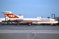 N844TW-1-EGLL-AUG1989 (Alpha Mike Aviation Photography) Tags: trans world airlines twa boeing 727 n844tw london heathrow lhr egll