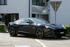 Aston Martin Vanquish (aguswiss1) Tags: astonmartinvanquish aston martin vanquish supercar sportscar racer cruiser britishcar car parked black astonmartin dreamcar v12 200mph 300kmh switzerland