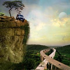No brakes (jaci XIII) Tags: carro estrada rodovia ponte penhasco desastre rochedo car road highway bridge cliff disaster enteredinsyb