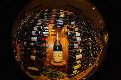 Lifeblood of the French (Chuck LaChance) Tags: wine winecellar bottle fisheye french vino flickr explore flickrexplore