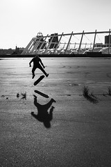 IMG_3386 (Alexey Gers) Tags: skateboard skater extreme blackandwhite shadow summer jump action