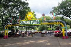 Sesame Place (wallyg) Tags: amusementpark buckscounty entrance langhorne pennsylvania sesameplace sesamestreet sign themepark gate