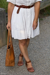 little white dress, brown leather tote bag, trask sandals-4.jpg (LyddieGal) Tags: hobotheoriginal anchor brown fashion gap littlewhitedress nautical outfit rayban style summer thrifted tjmaxx trask wardrobe weekendstyle white