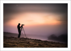 In his natural habitat (Chas56) Tags: photographer photography person man male silhouette landscape victoria country sunrise fog foggy mist mistymorning frost hill hills triopod canon canon5dmkiii composite morning earlymorning morningmist people revisited ngc