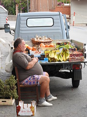 Healthy eating (Couldn't Call It Unexpected) Tags: fruit vegetables sicily truck taormina bananas