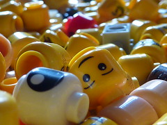 Lego Heads (fee-ach) Tags: lego toys buildingblocks head heads toy