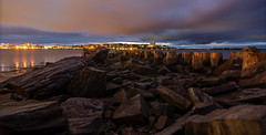 portland harbor (paul noble photography) Tags: paulnobleimages paulnoblephotography portlandmaine portland pylons maine mainecoast mainephotographers longexposure stacked nikond7000 tokina1224f4 bluehour
