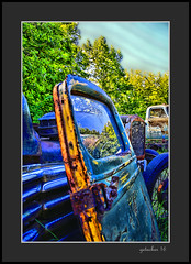 Resting Door (the Gallopping Geezer '5.0' million + views....) Tags: vehicle automobile truck car transportation travel old vintage historic abandoned decay decayed worn faded derelict forgotten masonmotors mason mi michigan upperpeninsula collection graveyard display canon 5d3 tamron 28300 geezer 2016