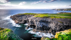 Erosion (Ray Moloney Photography) Tags: ifttt 500px cliffs rocks ocean atlantic water sky coast seascape long exposure waves summer travel clouds blue ireland county clare grass fence beautiful green
