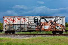 (o texano) Tags: houston texas graffiti trains freights bench benching wholecar aware
