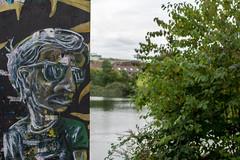 Dude! (TagThis) Tags: dsseldorf dsseldorfsdpark sule graffiti streetart wasser gewsser
