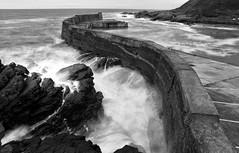 Collieston Harbour - Aberdeenshire (PeskyMesky) Tags: aberdeen aberdeenshire collieston colliestonharbour le longexposure scotland flickr monochrome bw blackandwhite canon canoneos500d