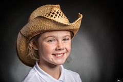 Lily (Darren Frodsham) Tags: lily lilymaysinclair lilymay cowgirl hat children child childportrait portrait portraiture pretty girl female darrenfrodsham canon canonef100mmf28lmacroisusm studio strobes strobist strobelights indoors lighting