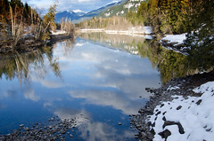 Slocan River (treehuggerdcg) Tags: blue winter snow clouds reflections nikon weekend utata odc slocanriver utatafeature tmsh kokaneeglacierpark utata:description=hide d7000 giveusyourbestshot 522013 utata:project=faraway 522013week6