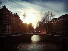 Leidsegracht (renalt130) Tags: sunset holland amsterdam nederland keizersgracht leidsegracht camera360 samsunggalaxyacegts5830 flickrandroidapp:filter=tokyo