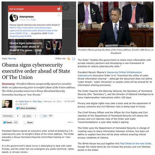 """""""Hot on Google+: Obama signs cybersecurity executive order ahead of State Of The Union"""" #US #security / SML.20130213.SC.PublicMedia.ZDNet.obama-signs-cybersecurity-executive-order-ahead-of-state-of-the-union-7000011216"""