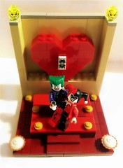 Happy Valentines Day (MrScareChrome) Tags: love dc lego valentine harley creation batman quinn joker mad custom own valentinesday adaptation moc madlove dcau quinzel