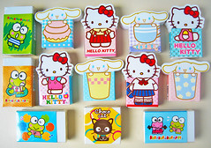 186 (alexandre laguna) Tags: hello cat cinnamon eraser kitty sanrio choco erasers keroppi