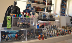 Displays of Fanciness (MGF Customs/Reviews) Tags: 3 man hot america dark toys star iron lego display 4 halo collection captain batman knight wars creeper rises avengers the
