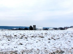 (Mr.J.Martin) Tags: winter snow field rural landscape farm farmland amish lancaster lancastercounty snowfall blowingsnow amishcountry