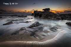 Caves Beach with my new Camera! (Kiall Frost) Tags: sun seascape colour detail beach water clouds sunrise print landscape photography photo sand nikon rocks photographer image australia caves nsw abigfave kiallfrost d800e