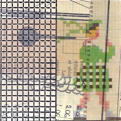 checked skirt (kurberry) Tags: collage crossstitch ephemera tissuepaper tracingpaper magazinepages bookpages vintageephemera bookbindingteam