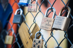 Alex & James  (robbie ewing) Tags: london love metal lock shoreditch romantic bricklane padlock alexjames chainfence romanticgesture
